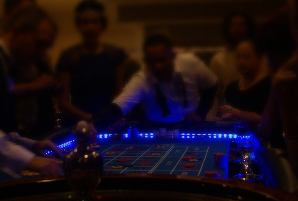 Roulette table in action