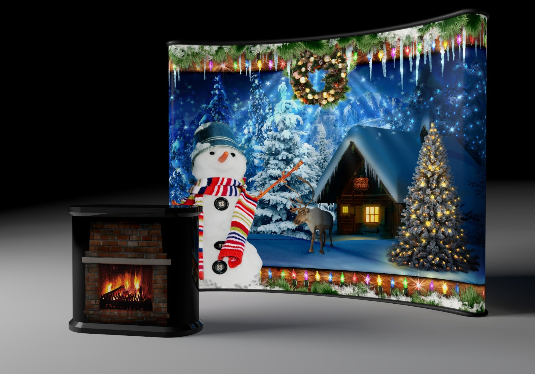 White_Christmas_Theme_Casino_Party_Hire