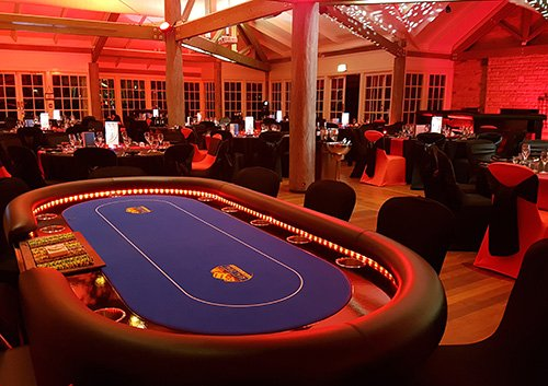 Poker table for corporate casino party hire