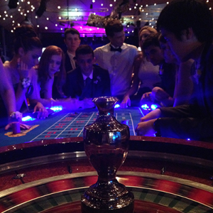 Professional Casino Roulette Table for Hire for parties and events