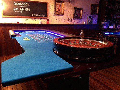 Roulette table hire at Black Coffee Lyrics, Surfers Paradise, Gold Coast