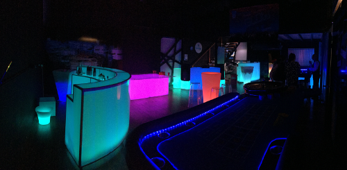 Glowing casino roulette tables glowing furniture